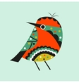 Decoration with colorful bird vector image vector image