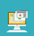 internet computer flat style vector image