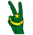 Peace Sign of the Moorish flag vector image vector image