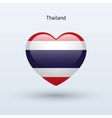 Love Thailand symbol Heart flag icon vector image