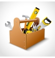 Carpenter toolbox poster vector image