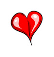 simple heart isolated on the white vector image vector image