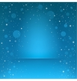 blue snow podium vector image vector image