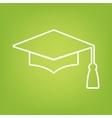 Mortar Board or Graduation Cap line icon vector image