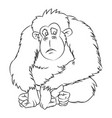 ape cartoon - line drawn vector image