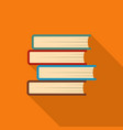 book student icon flat style vector image