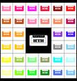 cassette icon audio tape sign felt-pen vector image