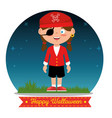 children wearing halloween custome vector image