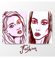 fashion hand drawn portrait vector image
