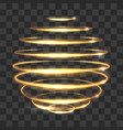 gold circle light tracing effect glowing magic 3d vector image