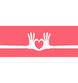 hand heart gesture long vector image