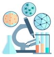 Microbiology Petri dishes test tubes vector image