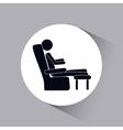 person resting design vector image
