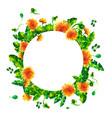 watercolor spring flowering branches dandelion vector image