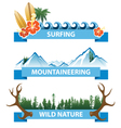 nature banners vector image