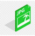 file jpg isometric icon vector image