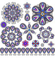 set of jewelry design element vector image