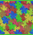 low poly floral background vector image