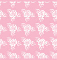 rose with leaf seamless pattern vector image
