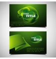 set of green abstract business cards vector image