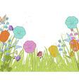 spring florals vector image
