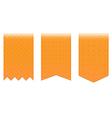 Set of orange bookmarks vector image vector image