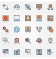 Business communication icons vector image