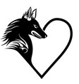 Dog heart love pet tattoo print fort-shirt pet vector image