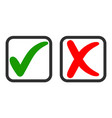 icons yes and no voting for and against vector image