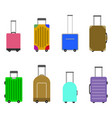 luggage and baggage for travel and journey of set vector image