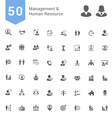 Management and Human Resource Solid Icon Set vector image