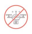 No Drones Allowed vector image
