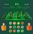 Soccer Game Strategic Planning vector image