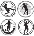 Soccer player stamps vector image