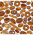 Bakery Color Seamless Pattern vector image