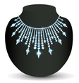 womans necklace sparkling shiny beautiful vector image