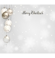 elegant Christmas background with silver and white vector image