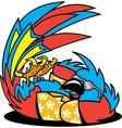 Tropical parrot dance vector image
