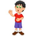 cute little boy cartoon shocked vector image