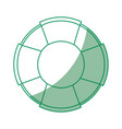 isolated lifebuoy icon vector image