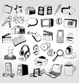 doodled icons vector image vector image