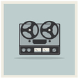 Retro background Open Reel Recorder vector image vector image