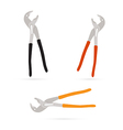 Pincers Set Isolated on White Background vector image