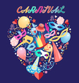 bright carnival background vector image vector image