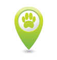 animal footstep GREEN map pointer vector image