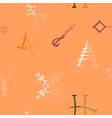 Seamless Background with Medieval Alchemical Signs vector image