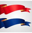 ribbon redblue flag vector image vector image
