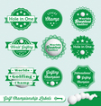 Golf Championship Labels vector image vector image