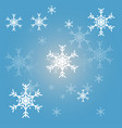 christmas snowflakes blue background vector image