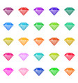 diamond in flat design vector image